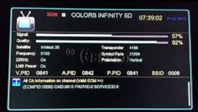 Photo of COLORS INFINITY UPDATE  New Frequency On GSat-15 @93.5E