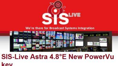 Photo of SIS-Live Astra 4.8°E New PowerVu key Update 2021