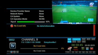 Photo of Channel 9 Bangladesh New Biss Key And Frequency APSTAR7@76.5'East 2021