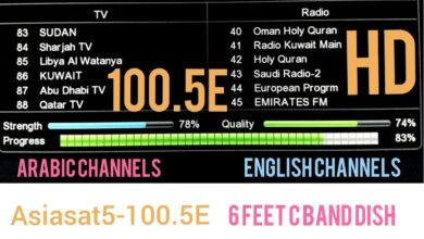 Photo of Adhoc Enc 15 And SECO-1 Biss Key Frequency Code On Asiasat 5
